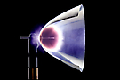 Thermal laser propulsion: Laser induced detonation in the thrust chamber. Credits by DLR