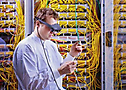 Application Scenario: Interactive OLED data glasses may support qualified persons at work with additional information © Fraunhofer COMEDD